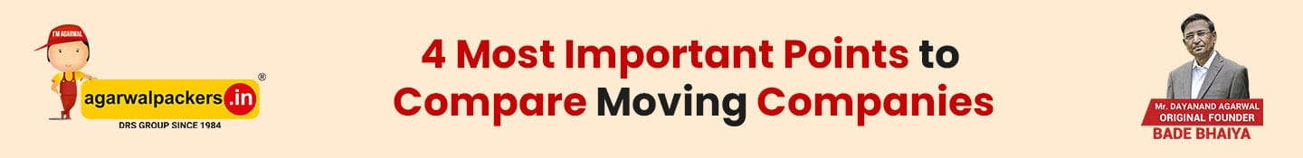 4 Most Important Points to Compare Moving Companies