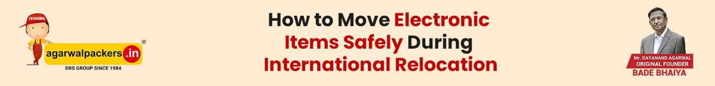 How to Move Electronic Items Safely During International Relocation