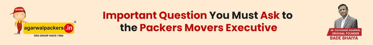 Important Question You Must Ask to the Packers Movers Executive
