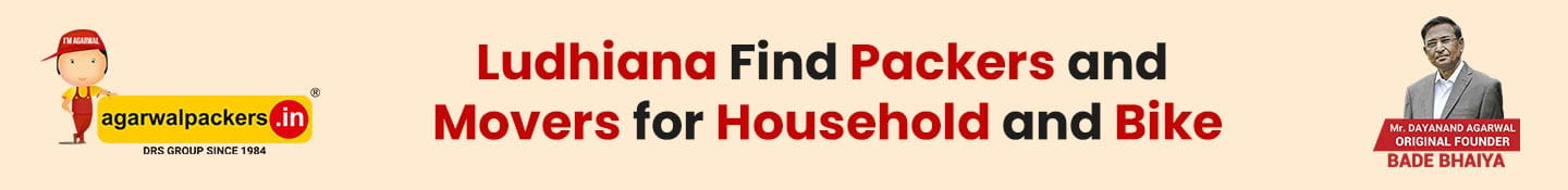 Ludhiana Find Packers and Movers for Household and Bike