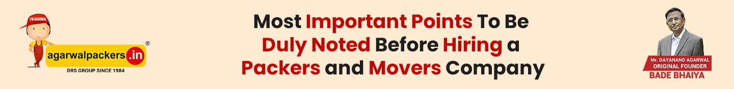 Most Important Points To Be Duly Noted Before Hiring A Packers and Movers Company