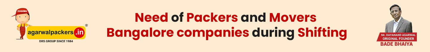 Need of Packers and Movers Bangalore companies during Shifting