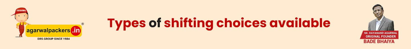 Types of shifting choices available
