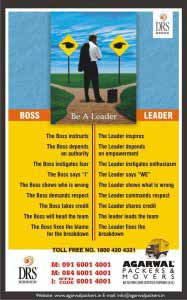 Be a Leader - Agarwal Packers and Movers