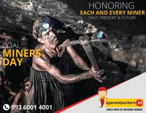 Coal Miners Day - Agarwal Packers and Movers