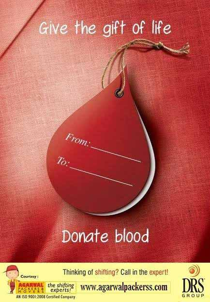 Donate Blood - Agarwal Packers and Movers