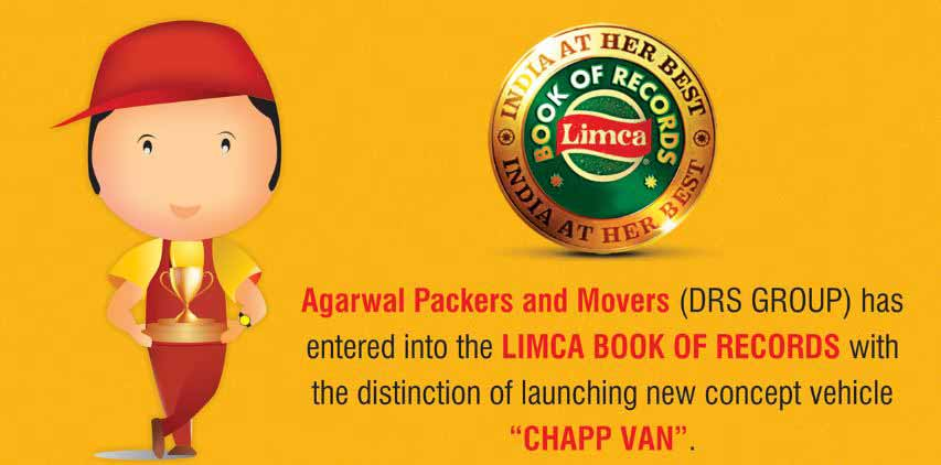 Limca Book of Records - Agarwal Packers and Movers