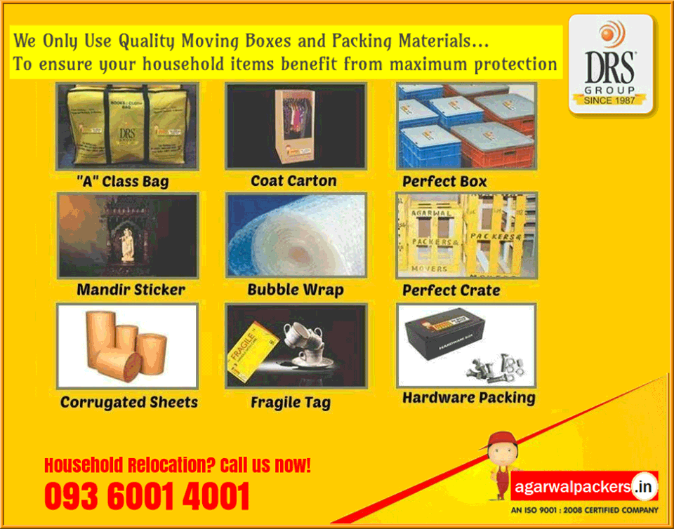 Quality Packing Materials - Agarwal Packers and Movers