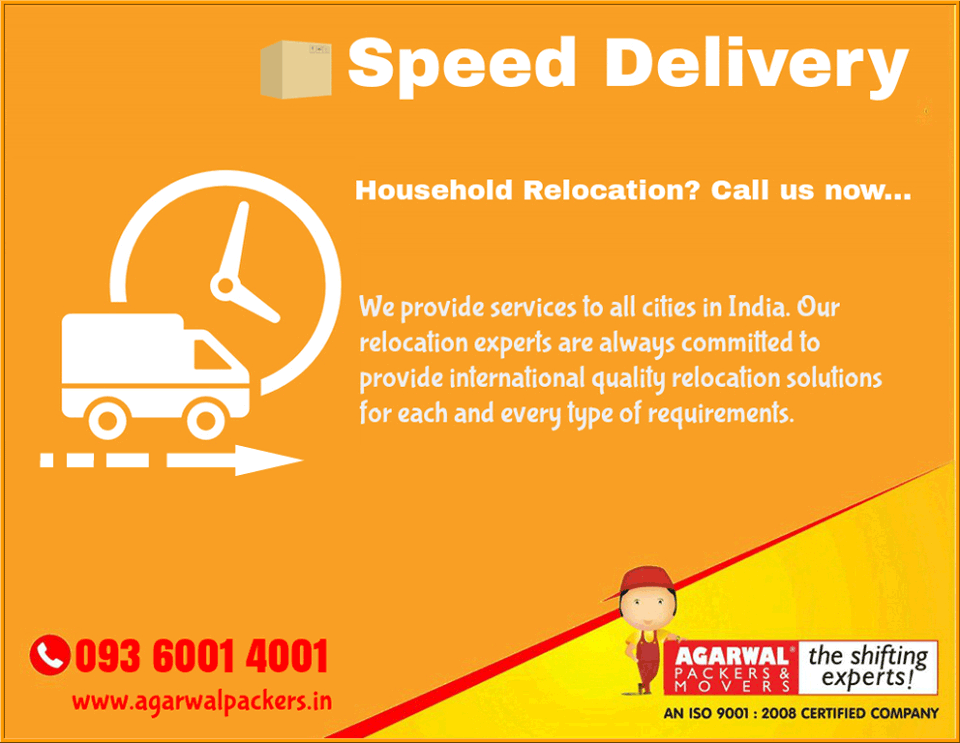 Speed Delivery - Agarwal Packers and Movers