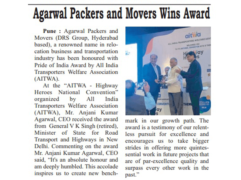 News Agarwal Packers and Movers