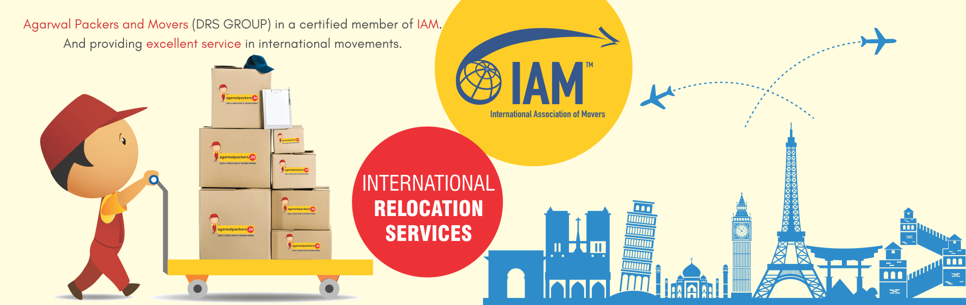 International Association of Movers - Agarwal Packers and Movers DRS Group